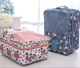 Wholesale Dots Luggage - Journey Trip Travel Shoes Bag Fashion Women Shoes Pouch Journey Totes Travelling Shoes Totes Luggage Mini Girls Flower Bags