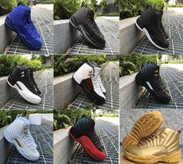 Wholesale Free Sporting Games - Free Shipping Super Perfect Quality Air Retro 12 Flu Game French Blue The Master Men women Basketball Sport Shoes