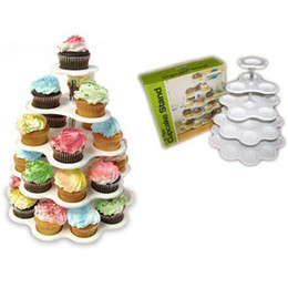 Wholesale Acrylic Cake Stands - 5 Tier Round Cupcake Stand Cupcakes Crystal Acrylic Cake Tower Cupcakes Holder Wedding Decoration Party Birthday Cake Decoration For Profess