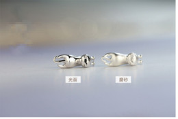 Wholesale Coolest Cheap Jewelry - Fashion Cat Stud Earrings 925 Sterling Silver Woman Girl Cool Cat Statement Charm Jewelry Cheap Cat Pendientes