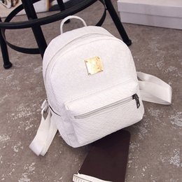 Wholesale Top Korean Backpack - Wholesale- 2017 Korean Style Women PU Leather Backpack Leisure Travel Students School Casual Woven College Style Free Ship Top Quality P402