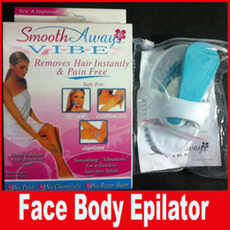 Wholesale Face Body Beauty - New Electric Smooth Away Vibe Face Body Epilator Hair Remover Beauty Care Tool for Women With Packing.