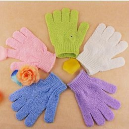 Wholesale Gloves Prices - new Factory price Exfoliating Bath Glove Five fingers Bath Gloves Convenient and comfortable health free shipping wn085
