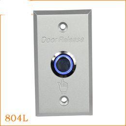 led door button prices - Wholesale- LED light NO NC aluminum alloy door access control system push exit button door release manual press