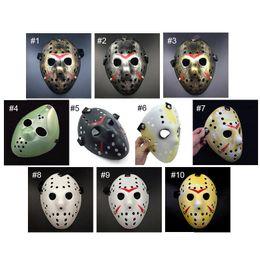 Wholesale Vintage Halloween Masks - Gold Vintage Party Masks Dedicated Jason Voorhees Freddy Hockey Festival Halloween Masquerade Mask Free Shipping wa4234