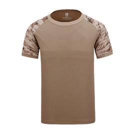 COOLMAX T-shirts tactiques Sport de plein air Randonnée Camping T-shirt à manches courtes Tactique Dry-quick Chemises Col Rond Vêtements Hommes T-shirt ? partir de fabricateur