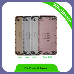 Wholesale iphone glass repairs - Housing For iPhone 6s High Quality Assembly Repair Parts Rear Glass For iPhone 6s 4.7 Back Cover Battery Door