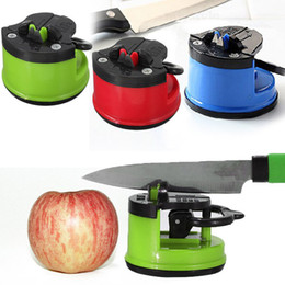 Wholesale Suction Pad Knife - Rushed Top Fashion Metal Eco-friendly Facas Kitchen Knife Kitchen Safety Knife For Sharpener With Secure Suction Pad K4049
