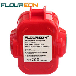 Wholesale Makita Cordless Drills - FLOUREON 9.6V 2000mAh Rechargeable Battery Pack Power Tool Battery Cordless Drill for Makita 9120 9122 PA09 6207D Ni-CD Bateria