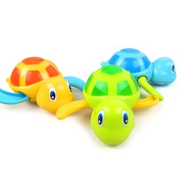 Wholesale Little Boy Toys Wholesale - Wholesale- 1pc Baby Toys Little Turtle Bath Toys Swimming Animal Water Toys for Boys Girls Children High Quality