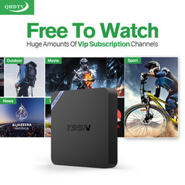 Wholesale Android Tv Box Skype - Best Android Set Top Box T95N Italy UK DE European IPTV Box For Spain Portugal Turkish Netherlands IPTV Tv Box Free Shipping