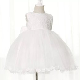 Wholesale Cheap Birthday Tutus For Girls - Cheap Flower Girls Dresses weddingTulle LaceTop Kids Wear For Party 2016 Free Shipping Baby Girl Birthday Party Christmas Communion Dresses