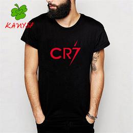 Wholesale Ronaldo T Shirts - Wholesale- Men's T shirts Ronaldo T-Shirt CR7 Christiano Tee Cotton Printing Clothing Size xs-xxl KANYSP