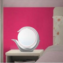 10 Stücke Rosa Klapp Tragbare Make Up Spiegel Dame Kosmetische Spiegel Eingebaute Led-lampen Spiegel Haut Pflege Werkzeuge Schminkspiegel