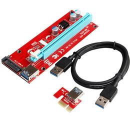 2019 dc jack de alimentação por atacado Super estável PCI-E PCI E Express 1x a 16x placa gráfica Riser Extender Adapter VER007C Para Bitcoin BTC Miner Máquina DHL
