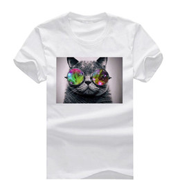 Wholesale Space Tee Cat - Cat Space New Fashion Cotton O Neck Men and Women Short SleeveT-Shirt Youth tshirt Male Tops Tees Wholesale