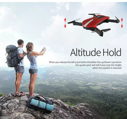 Wholesale toy drone helicopter camera - New 2.4G Portable JY018 Foldable Mini Selfie Drone Pocket Folding Quadcopter Altitude Hold Headless WIFI FPV 0.3MP Camera RC Helicopter Toys