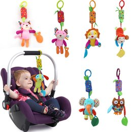 Wholesale Infant Toy Mobile - Wholesale- HHot Sale New Infant Toys Mobile Baby Plush Toy Bed Wind Rattles Bell Toy Stroller for Newborn CX882074
