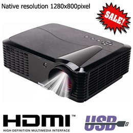 Wholesale led low cost - Wholesale- 2016 New Low Cost 2800 lumens Built In Analog TV Tuner LED Lamp Beamer Proyector 3D Projector Good Image For Theaer Office Room