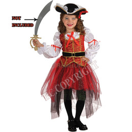 Wholesale Kids Costumes Girl Pirate - New Arrive Halloween Christmas pirate costumes girls party cosplay costume for children kids clothes 3-11 year old