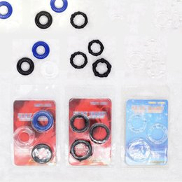 Wholesale Stay Hard Cockrings - Male Men Cock Penis Rings Delaying Ejaculation Stay Hard Donuts Flexible Glue Cockrings With beads