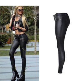 Wholesale Sexy Low Rise Skinny Jeans - Wholesale- Uwback Skinny Jeans Women 2017 New Brand Black Jeans Mujer Motorcycle Low Rise Plus Size Sexy Denim Pencil Pants Female TB1332