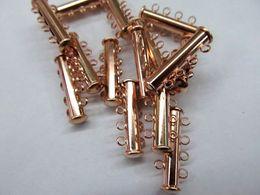 Штекер золотого цвета онлайн-высокое качество 12 шт. 2-7 строки разъемы латунь Застежка, бар трубка окисленного серебра, золота, розового золота черный, gunemtal смешанные застежки