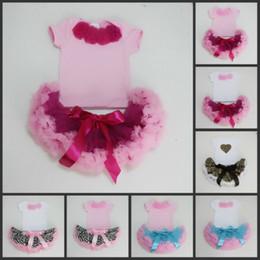 Wholesale Soft Fluffy Tutu - 5SETS LOT Soft Baby Girls Pettiskirt Set, flower top + skirt set,baby Dress,Fluffy pettiskirt,tutu Dress,Baby Girls Clothing