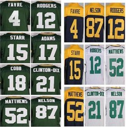 Wholesale Mens Elite Packer Jordy Nelson Clinton Dix Randall Cobb Clay Matthews Aaron Rodgers Stitched Jerseys