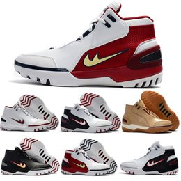 Wholesale First Cream - 2017 Cheap Zoom James Generation 1st OG First Game Mens Basketball Shoes High Quality Red White Retros 1 James Sprot Trainer Sneakers