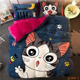 Wholesale Children Washing Machine - 2017 new thick keep warm soft Farley velvet winter quilt cover flat sheet and pillowcases beddings