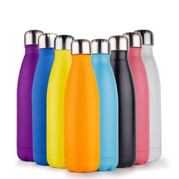 Wholesale Thermal Flasks Wholesale - 17oz vacuum water bottle double wall stainless steel vacuum flask insulated cola bottle with mixed color 023