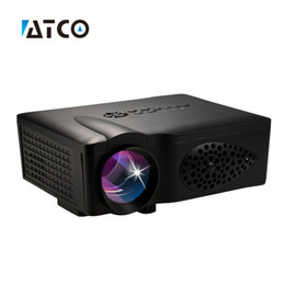 Wholesale 3d Projector Cheap - Wholesale-Newest 1600lumens cheap LED LCD Mini Video 3D 1080P Portable Pocket game Projector,Pefect For Home theater LCD Proyector ATCO