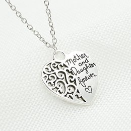 Wholesale Sweater Mother Daughter - Mother's Day Gift Necklaces Mother and Daughter Eternal Love Pendant Necklace Sweater Chain Necklace for Women Birthday Jewelry