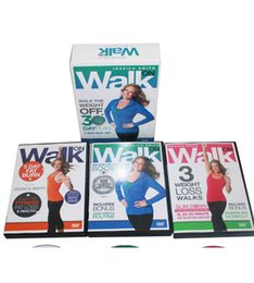 Wholesale Body Building Dvd - Pro Jessica Smith Walk On Walk the Weight Body Building Exercise Fitness 3DVDs Fitness Supplies Videos Workout DVDs Slimming Training Sport