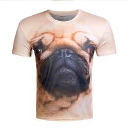 Wholesale T Shirt For Dog Xl - 2017 New Fashion High Quality Brand 3D Dog T Shirt Men Clothes Skull T-Shirts For Men