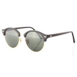 Wholesale Goggles Men Square Yellow - Highest Quality Fashion Round Men Women Sunglasses Semi-Rimless frame miorred Glass Lens Eyewear Unisex UV400 Sun Glasses With original box