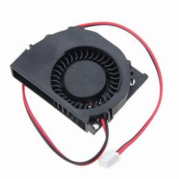 Soplador de computadora online-Venta al por mayor- 2 unidades / lote 50x40x10mm 5010S 50mm 12V Ordenador sin escobillas Turbo Cooling DC Blower Fan