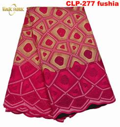 Canada Livraison gratuite Africaine tissu de dentelle sèche, top qualité dentelle brodée de coton africain pour les femmes robe! CLP-277 Offre