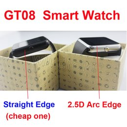 Wholesale Cheap Phone For Kids - GT08 smart watch smartwatch with SIM Card Slot DZ09 A1 U8 and NFC Health Watchs for Android Samsung IOS Apple iphone phone cheap version