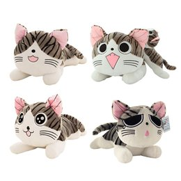 Wholesale Cheese Cat Toy - 2017 New Arrival For Baby's Best Gift 20cm Cheese Cat Lovely Cute Plush Toy One Piece Free Shipping