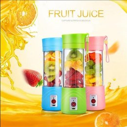 Wholesale Hand Held Mixers - USB Electric Fruit Juicer Bottle 380ML Portable Handheld Smoothie Maker Blender Bottle Juice Cup Juicer Blender OOA2674