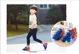 Wholesale Led Running Shoes - NEW Children's Shoes spring sport running girls fashion sneakers kids led net breathable boys shoesEuropean shoe size: 21-33