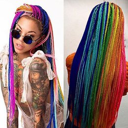 Wholesale Extension Solid - Solid Color Synthetic Braiding Hair Jumbo Braids Crochet Hair Extensions 24 Inch 100g pack 100% Kanekalon Braids Hair Extensio For Wholesale