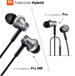 Wholesale Sharp Drivers - Original Xiaomi Mi In-Ear Headphone Pro | Pro HD with Microphone Triple Dual Driver Dynamic Balanced Armature For Xiaomi 2pcs lot