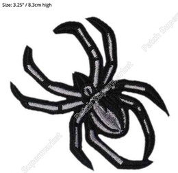 Wholesale Black Spider Costume - BLACK WIDOW SPIDER Marvel Comic AVENGERS AGENTS OF SHIELD Uniform Movie TV Costume Cosplay Embroidered iron on patch