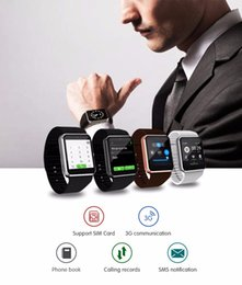 Wholesale Android 3g Smart Phones - QW08 GT08-PLUS 3G Wifi Wristwacth Smart Watch Phone Android 4.4 1.56 inch MTK6572 1.2GHz Dual Core 512MB RAM 4GB ROM Bluetooth SmartWatch