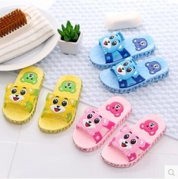 Wholesale Cool Boys Slippers - Children's slippers, summer boys and girls bath, children's slippers, cool slippers, soft bottom, indoor cartoon cute