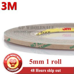 Wholesale Thinnest Double Sided Tape - Wholesale- 2016 3M, 5mm Ultra Thin 3M 467MP 200MP Adhesive Double Sided Sticky Tape High Temp. Resist Nameplate Bond