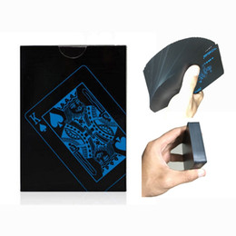 Wholesale poker professional - 1 PCS Creativ Design Frosted Waterproof PVC Poker Playing Cards High Quality Black Durable Magic Poker For Professional Magician